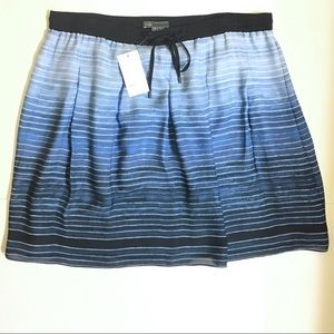 Vince Ombre 100% Silk French Blue Striped Skirt